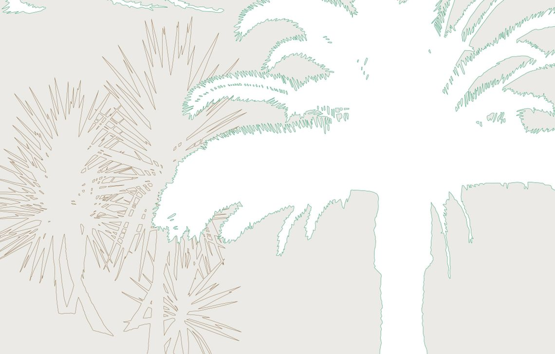 design Palm trees with palms as outline